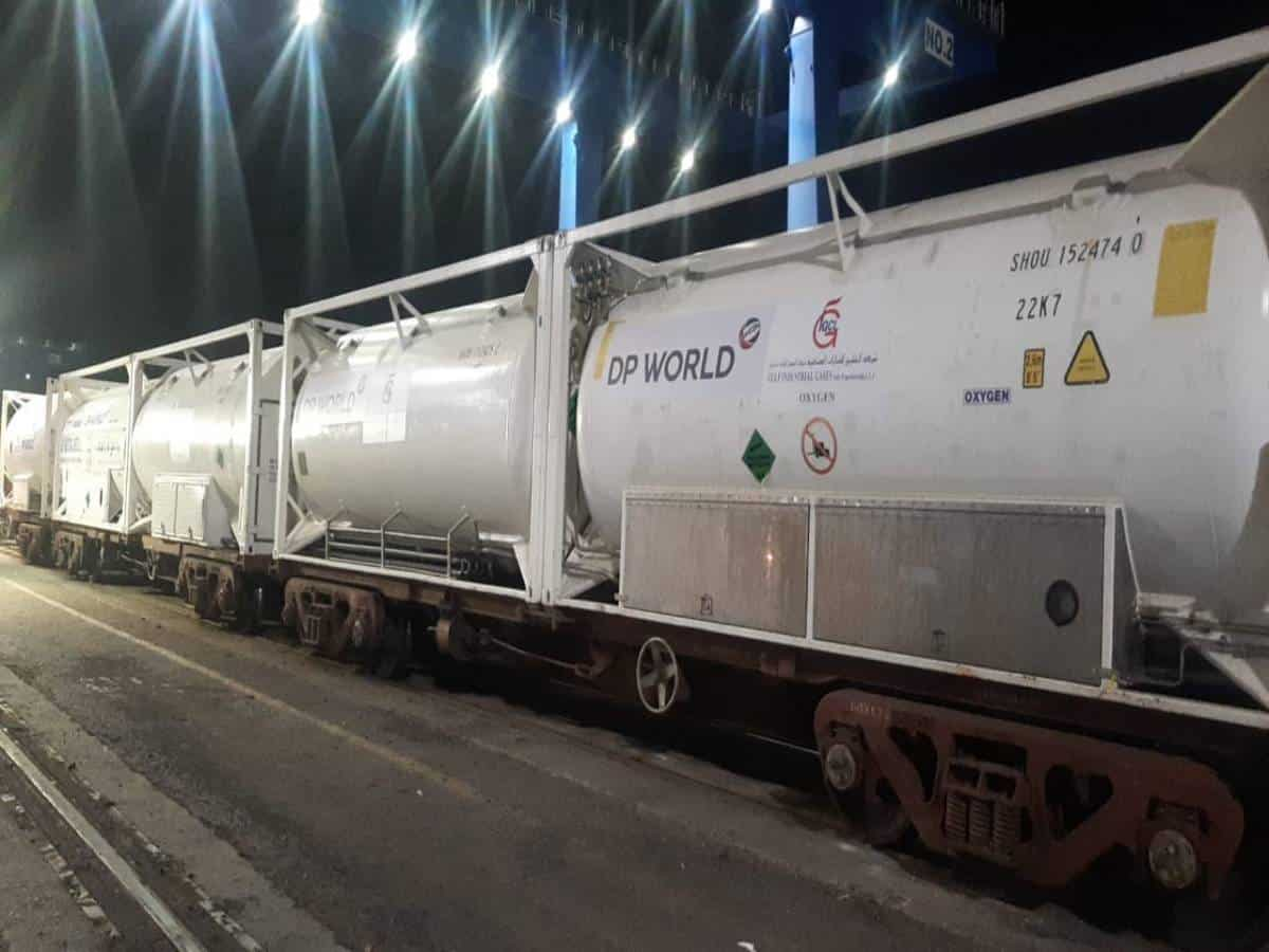 Guj: 7 oxygen tankers arrive at Mundra port from UAE