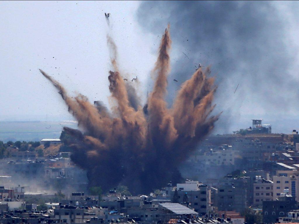 Medics: Israeli airstrikes kill 23 in downtown Gaza City