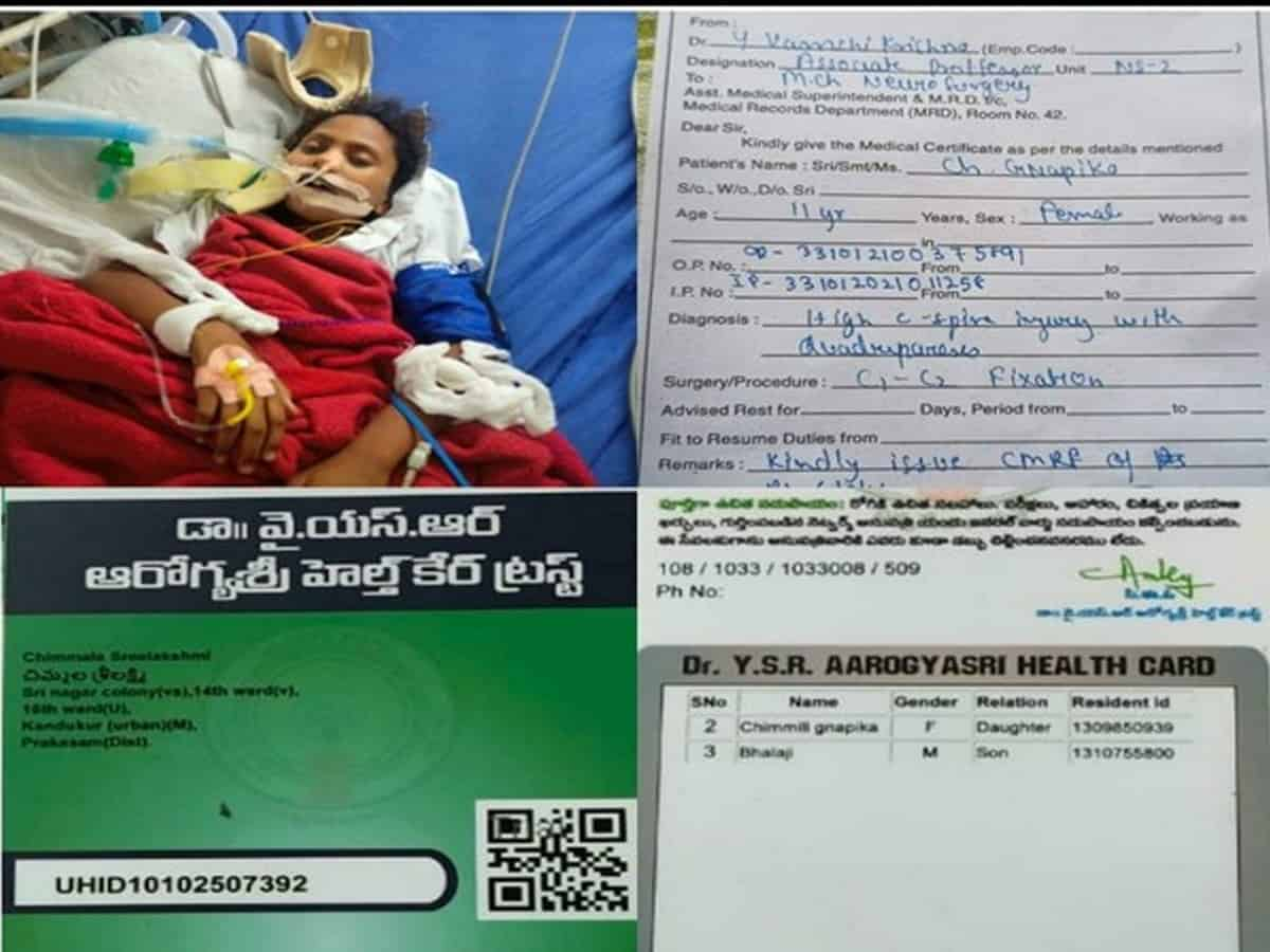 Kavitha comes to aid of 11-year-old girl with C-Spine injury