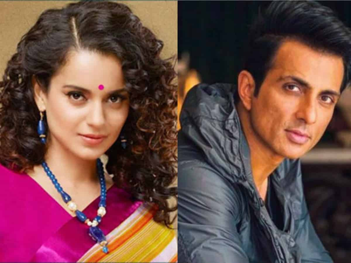 Kangana Ranaut likes tweet that calls Sonu Sood 'fraud'
