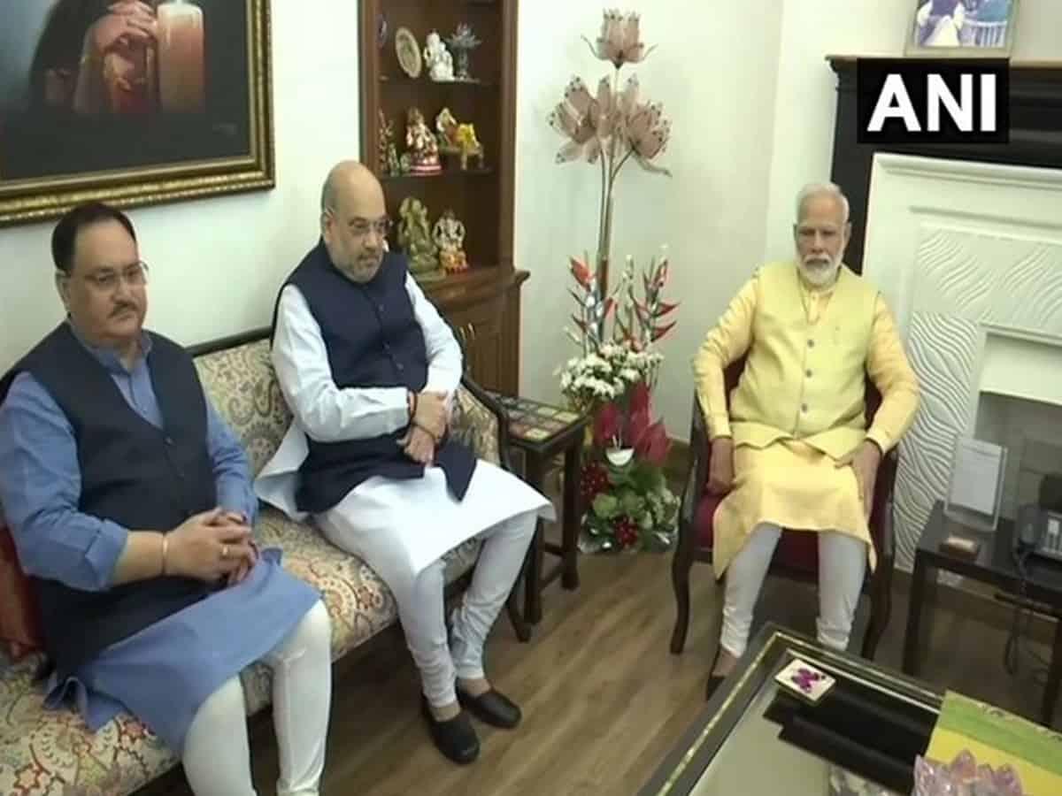 Yogi Adityanath meets top BJP leaders, Nadda, Shah meet PM Modi
