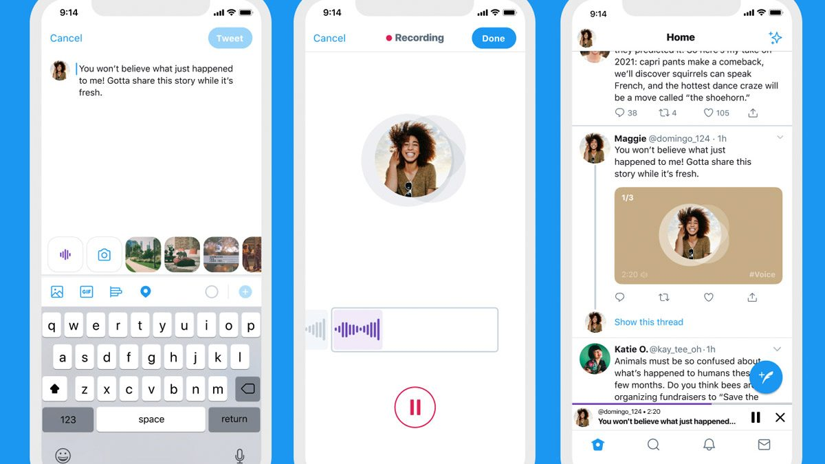 Twitter adds captions for voice tweets